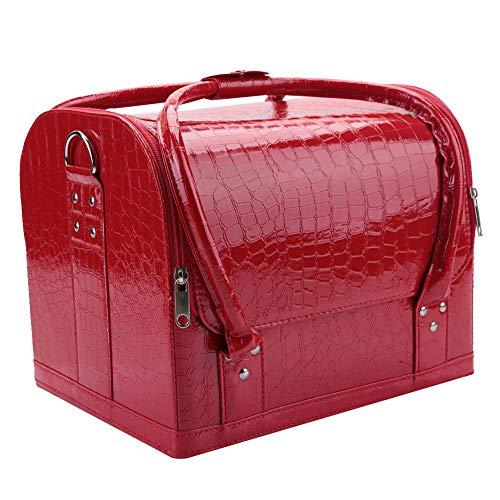 Cosmeticatas, opbergtas voor cosmetica, waterdichte organizer voor op reis, make-up, 2-in-1 handtas/schoudertas voor het opbergen van cosmetica 4