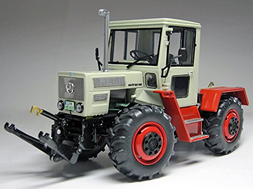 Weise Toys 1051 Mb-Trac 800 (W440), Pebble Gray Fire Red Modelltraktor, Spielzeug, Maßstab 1/32, Mehrfarbig