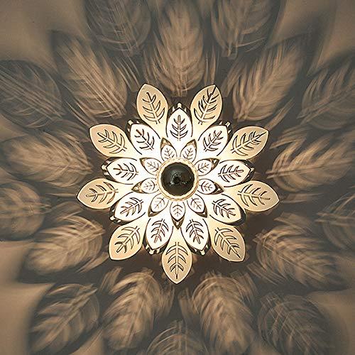 Lámpara de entrada pasillo corredor moderno minimalista personalidad nórdica entrada de entrada balcón de sombra lámpara de techo, hojas ● sección blanca -35cm [oculta]