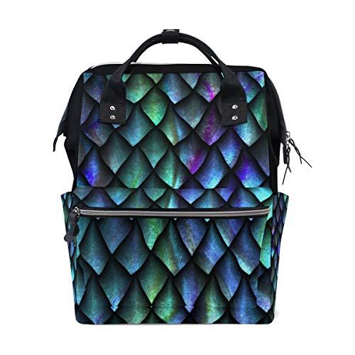 Geometrische groene draak schaal luiertas rugzak voor mama grote unisex luiertassen baby zorg reis rugzak outdoor school laptop tas