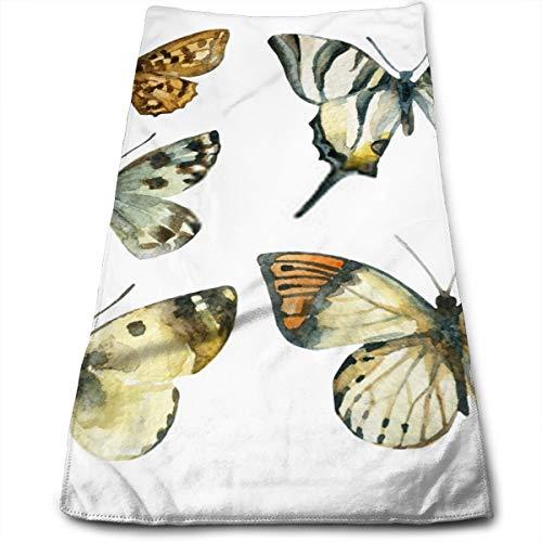 YudoHong Toalla de Mano de Microfibra de Secado rápido Premium Butterfly Set de Acuarela