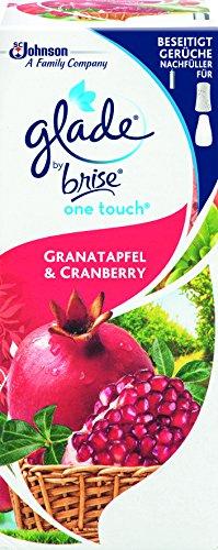 Glade By Brise One Touch Original Nachfüller für Mini-Duftspray, Für sofortige Frische zum Beseitigen von Gerüchen, 10 ml, Fruchtiger Granatapfel & Cranberry-Duft