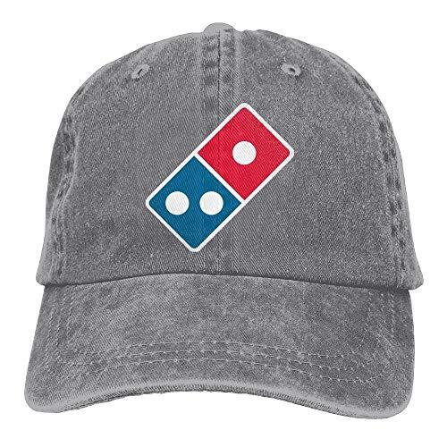 ONGH Domino's Pizza Logo Plain Einstellbare Cowboy Cap Denim-Hut für Frauen und Männer