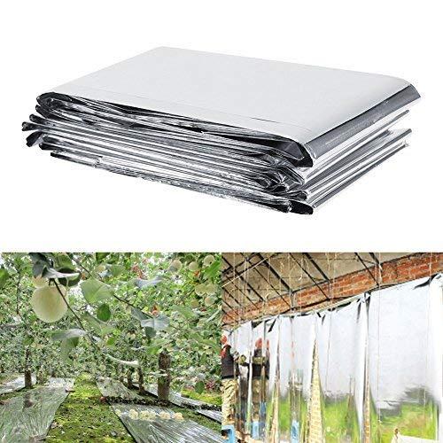 Växtreflekterande film, 1 st 210 x 120 cm reflekterande reflekterande film silverväxt reflekterande film för växter som växer i trädgård växthus
