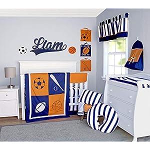 Pam Grace Creations 6 Piece Sports Crib Bedding Set