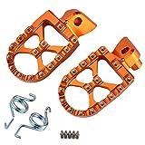 H2Racing CNC Motorräder Fußrasten Ruhepedale Fußrasten Pedale Fußstützen für K-T-M
