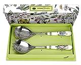 Portmeirion Home & Gifts BG1107 Coppia di Posate per Insalata, Porcellana, Multicolore