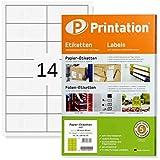 Etichette per indirizzi, 95 x 40 mm, autoadesive, bianche, per stampanti, etichette su formato DIN A4, da stampare/scrivere, 95 x 40 mm, etichette per indirizzi/spedizioni stampabili (100)