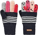 Barts Kids Puppet Gloves Bunt-Blau, Fingerhandschuh, Größe 4 - Farbe Navy