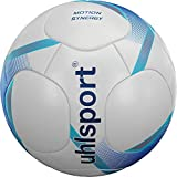 uhlsport Motion Synergy Balón de fútbol, Juventud Unisex, White/Deep Blue/Cyan, 5