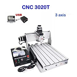 3020T 3-Axial Engraving Machine CNC Milling Machine Milling Engraving Machine 300mm x 200mm 3 Axle Precise control of the engraving process