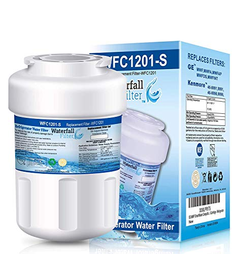 Waterfall Filter - Refrigerator Water Filter Compatible with GE MWF SmartWater Water Filter Cartridge