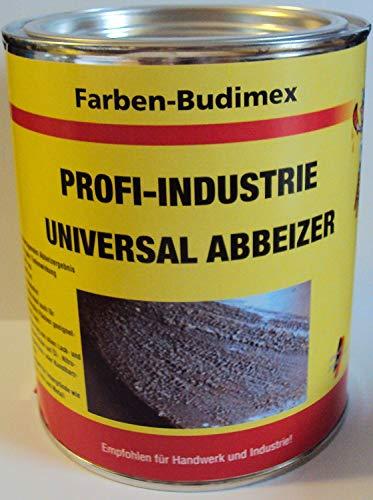 Farben-Budimex Profi-Industrie Universalabbeizer, hochwirksamer Spezial Abbeizer entfernt mühelos u. schnell alle Lacke, Kleber, Dispersionen/für Stein, Holz u. Metall/tropft nicht / (4.5)