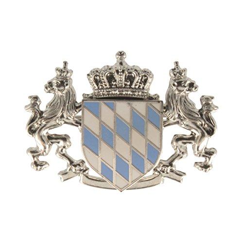 Hutanstecker   Hutabzeichen   Hutschmuck   Anstecker – Bayrische Flagge – 3 x 4 cm