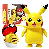 4.3''/11CM Pikachu Figure - Pokeball Throw N...