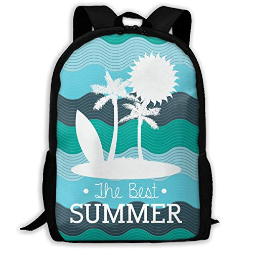 SARA NELL School Backpack Best Summer Sun Palm Tree Bookbag Casual Travel Bag For Teen Boys Girls