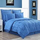 Fiesta Luna, 4 Piece with 2 Coordinating Pillow Shams, Full, Lapis Blue Comforter Set