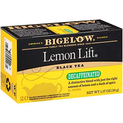 Bigelow Decaffeinated Lemon Lift Black Tea Bags, 20 Count Box (Pack of 6), Decaf Black Tea, 120 Tea Bags Total