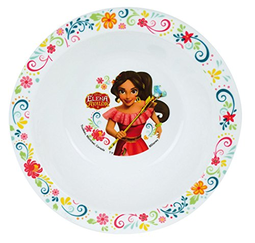 FUN HOUSE 005551 Disney Elena D'AVALOR Bol Micro-ondable pour Enfant, Polypropylène, Blanc, 16 x 16 x 4 cm