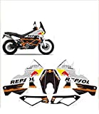 GRAPHICSMOTO set pegatinas decal stickers compatible 990 950 adventure repsol stripes toro (ability to customize the colors)