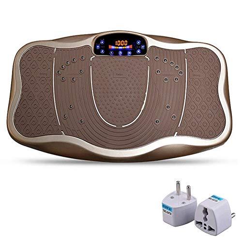 DPLQX Fitness Vibrationsplatte, Fitnessstation - Trainingsgerät - Ganzkörper Vibrationsgerät, Fitnesstraining von Zuhause,Golden