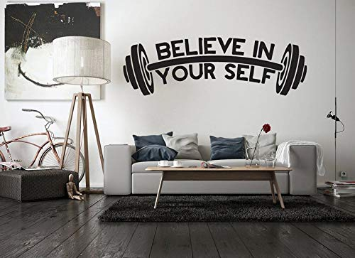 CECILIAPATER Wall Decal Sticker Bedroom Motivation Workout Gym Fitness Crossfit Sport Bodybuilding 132m