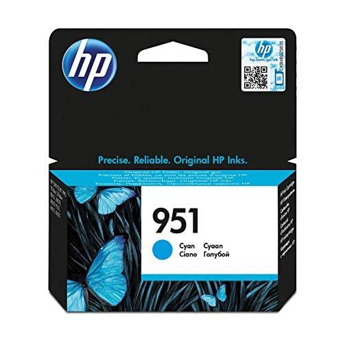 Hp 951 (Cn050Ae) Cartuccia Originale per Stampanti Hp a Getto di Inchiostro, Compatibile con Hp Officejet Pro 8100, 8600, 8600 Plus, 8610, 8615, 8620, 8640, Officejet Pro Mono 251Dw e Pro 276Dw, Ciano