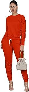 MSONWANYWomens 2 Piece Casual Set Sport Suit ActivewearSolid Color Spring Summer Autumn Winter sweetsuite Set