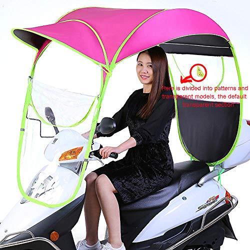 erby Motorrad Vordach Nach Dem Öffnen des Fensters Elektroauto Baldachin Markise Regenschirm Custom Logo Rose red
