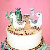 Regendeko 10 unidades de decoración para tartas, diseño de alpaca y cactus