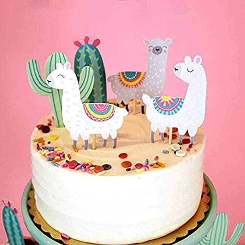 Regendeko 10 Stück Alpaka Kaktus Die Wüste Kinder Party Kuchendekoration Cake Toppers Geburtstagskuchen Deko