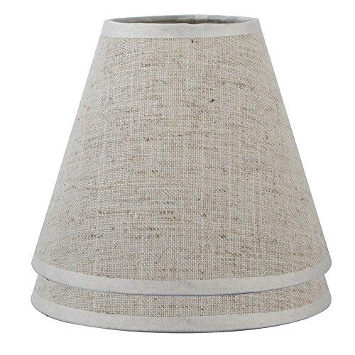 ONEPRE lino de color crema Clip On l/ámpara tonos peque/ña vela l/ámpara de ara/ña l/ámpara Bell 6/inch