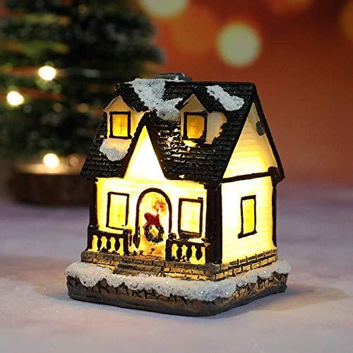 MiXXAR Christmas Weihnachtsdekoration Weihnachtsdorf Deko Mit Beleuchtung Schneedekoration Deko-weihnachtshaus Led Lichthäuser 3D Weihnachtsszene Dekoration Weihnachten