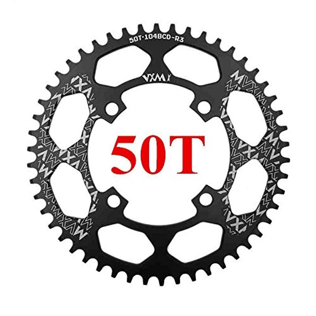 検出略す厄介なPropenary - 自転車104BCDクランクオーバルラウンド30T 32T 34T 36T 38T 40T 42T 44T 46T 48T 50T 52TチェーンホイールXT狭い広い自転車チェーンリング[ラウンド50Tブラック]