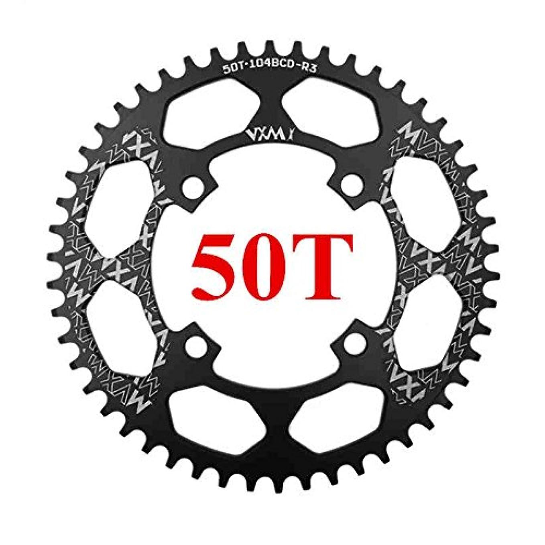 想起問い合わせメーターPropenary - 自転車104BCDクランクオーバルラウンド30T 32T 34T 36T 38T 40T 42T 44T 46T 48T 50T 52TチェーンホイールXT狭い広い自転車チェーンリング[ラウンド50Tブラック]