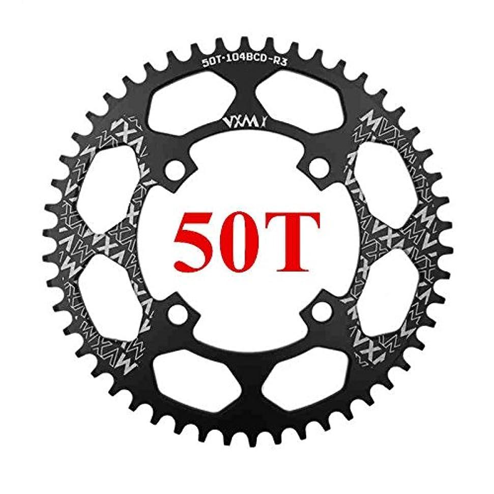 つかまえるジャンル小川Propenary - 自転車104BCDクランクオーバルラウンド30T 32T 34T 36T 38T 40T 42T 44T 46T 48T 50T 52TチェーンホイールXT狭い広い自転車チェーンリング[ラウンド50Tブラック]
