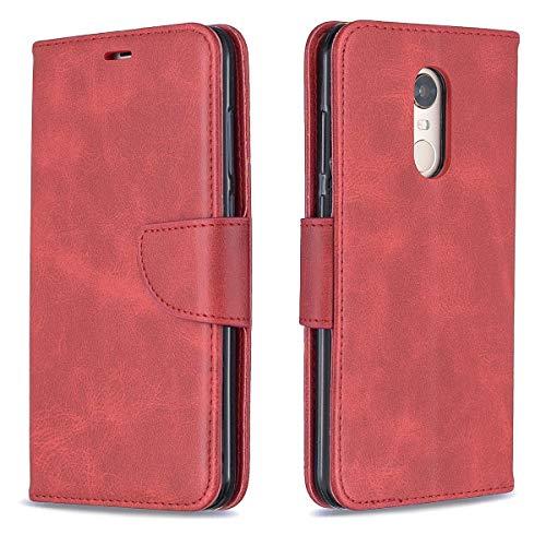 BINGRAN Redmi Note 5 Leder Hülle, PU Leder TPU Innen Handschlaufe Lanyard Standfunktion Karteneinschub & Magnetverschluß Schutzhülle Etui Flip Hülle für Xiaomi Redmi Note 5 (Redmi 5 Plus) 5.99
