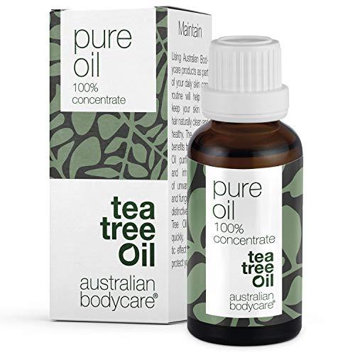 Australian Bodycare Tea Tree Oil 30ml | Teebaumöl gegen Pickel im Gesicht | Ätherisches Öl für unreine Haut, Kopfhaut, Haare | Pflege bei Akne, Fußpilz, Nagelpilz
