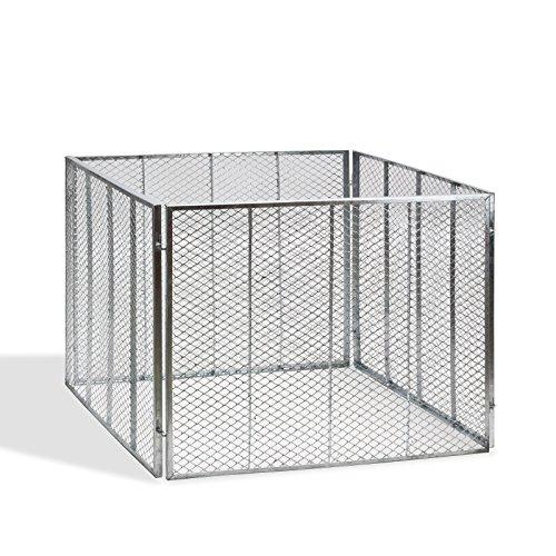 DEMA Metallkomposter 106x106x81 cm vollverzinkt