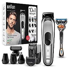 Braun 10-in-1-Trimmer MGK7220 Herren-Barttrimmer, Bodygrooming-Set