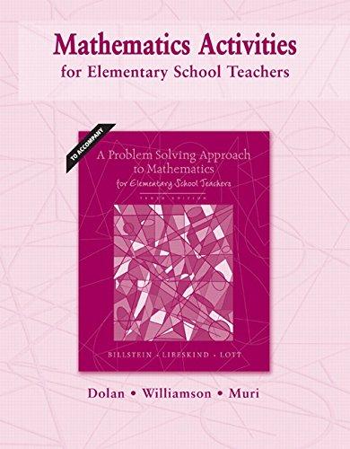 Mathematics Activities for Elementary School Teachers (10th Edition)