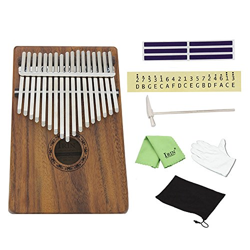 ammoon 17 Key Kalimba Mbira Pocket Thumb Piano Solid Acacia Musical Instrument Gift