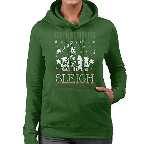 Predator krijgen naar de slee kerst gebreide vrouwen Hooded Sweatshirt