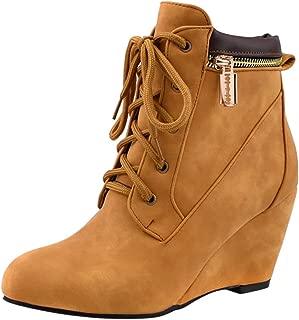 JOJONUNU Women's Comfort Ankle Booties Zipper