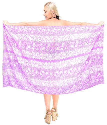 LA LEELA Envolver Resortwear Encubrir Pareo Pareo de Las Mujeres Ropa de Playa Traje de baño Traje de baño Violeta