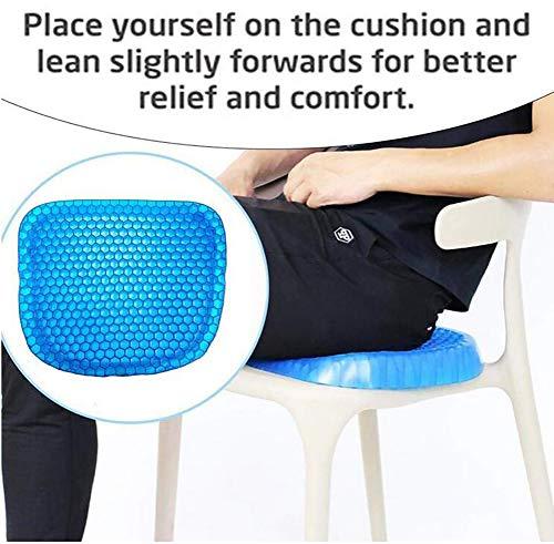 Feng gel zitkussen honingraat krat ontwerp gel pad biedt uitstekende ondersteuning voor onderrug, rug, heupen bevordert Venting & goede zittende houding voor bureaustoel auto Sitter rolstoel