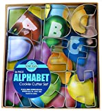 R&M International Alphabet 3' Cookie Cutters, 26-Piece Set in Gift Box