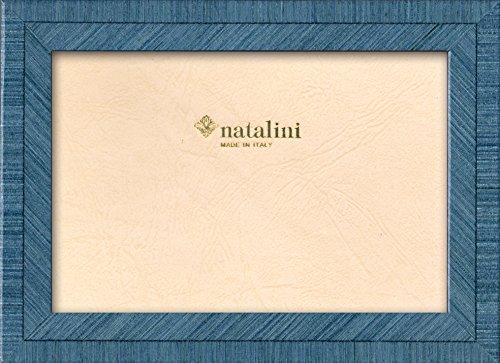 Natalini BIANTE Azzurro 10X15 Bilderrahmen mit Unterstützung für Tisch, Tulipwood, Hell-blau, 10 X 15 X 1,5