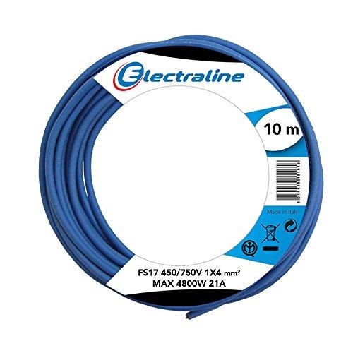 Electraline 13231Cable unipolar FS17, sección 1x 4mm², Azul, 10m