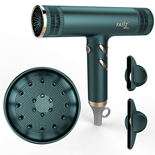 FASIZ Hair Dryers,Professional Ionic Salon Hair Blow Dryer, Lightweight Fast Dry Low Noise (Green)
